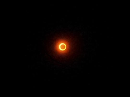 Annular eclipse, Redding, CA, May 20, 2012